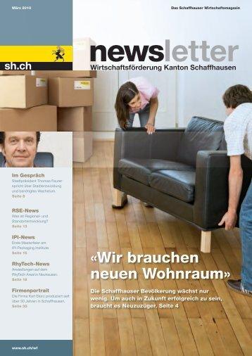Ausgabe 1 - März 2010 - Wirtschaftsförderung Kanton Schaffhausen