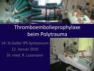 Thromboembolieprophylaxe beim Polytrauma in der Intensivstation