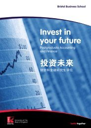 Invest in your future 投资未来 - University of the West of England