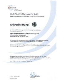 Akkreditierungsurkunde - RfB