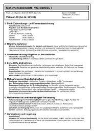 Sicherheitsdatenblatt ( 1907/2006/EC ) - Frisch Labor Systems ...