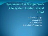 SAP2000 Analysis of a Bridge Bent