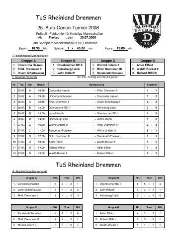 Turnierplan 2008 2 - TuS Rheinland Dremmen