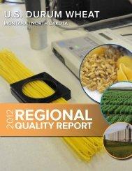 2012 Durum Quality Report - US Wheat Associates