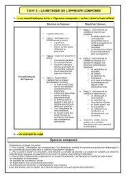 Méthode pour l'épreuve composée - SharePoint