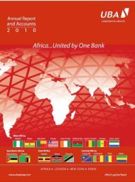 2010 Annual Report and Financial Statements - UBA Plc