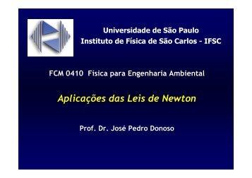 Aplicações Leis de Newton - IFSC