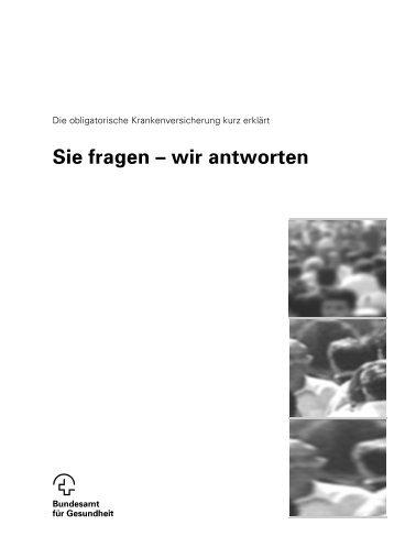 Die obligatorische Krankenversicherung kurz erklärt - Comparis.ch