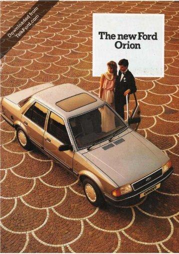 Octubre de 1983 - Club Ford Orion España