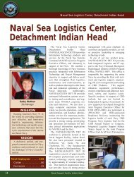 Naval Sea Logistics Center, Detachment Indian Head - DCMilitary.com