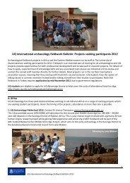 UQ Archaeology Fieldwork Bulletin 2012 - School of Social Science