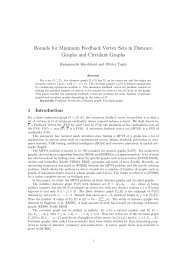 Bounds for Minimum Feedback Vertex Sets in Distance ... - Le2i