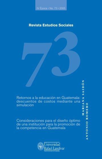 Estudios Sociales 73 - Universidad Rafael Landívar