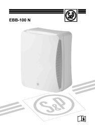 EBB-100 N - Soler & Palau Sistemas de Ventilación, SLU