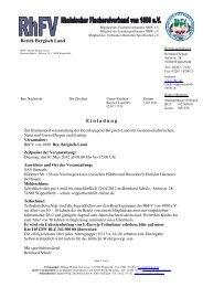 E inladung Bezirk Bergisch Land - Rheinischer Fischereiverband ...