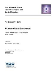 POWER OVER ETHERNET: - VDC Research