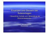 Finanzen und Steuern bei Solaranlagen - Rhein-Erft-Kreis