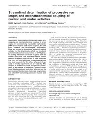 Streamlined determination of processive run length and ...