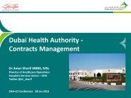 Dubai Health Authority - Contracts Management