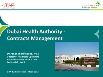 Dubai Health Authority - Contracts Management
