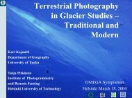 Terrestrial Photography in Glacier Studies – Traditional ... - Omega