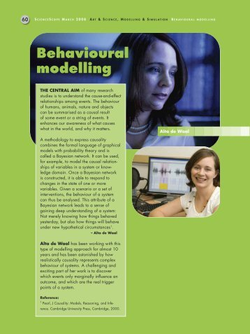Behavioural modelling - CSIR