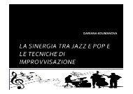 2-la sinergia tra jazz e pop e le tecniche di ... - Area Sanremo