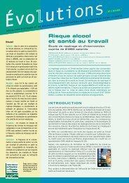 Evolutions - Risque alcool et santé au travail - Inpes