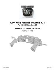owners manual cc16-1030 - front mount kit hon - Schuurman B.V.