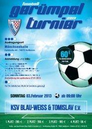 Anmeldung zum - KSV Blau-Weiß & Tomislav eV