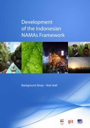 Development of the Indonesian NAMAs Framework - PAKLIM
