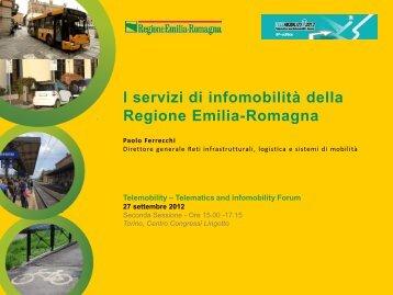 I servizi di infomobilità della Regione Emilia-Romagna