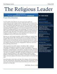 The Religious Leader - Unitarian Universalist Association