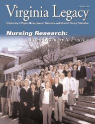 Legacy 2005 Spring - School of Nursing - University of Virginia