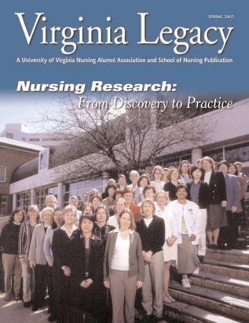 Legacy 2005 Spring - School of Nursing - University of Virginia