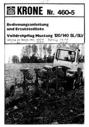 Page 1 Bedienungsanleitung und Ersatzteilliste Volldrehpflug ...