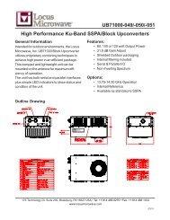 UB71000-049/-050/-051 High Performance Ku-Band SSPA/Block ...