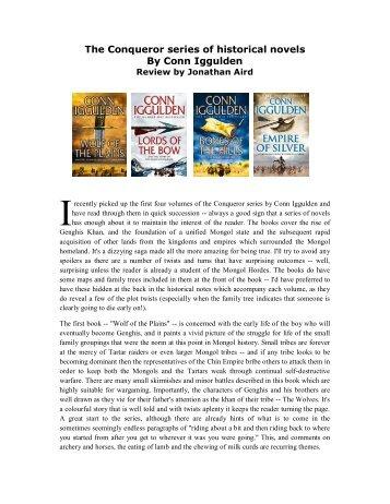 The Conqueror series of books - Lone Warrior Blog