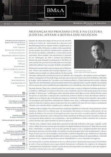 BM&A Review 22 | Março Junho 2007 - Barbosa, Müssnich & Aragão