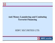 Anti Money Laundering and Combating i i i ... - HDFC Securities