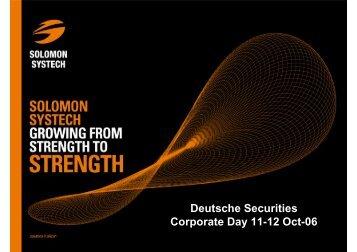 presentation (431KB) - Solomon Systech Limited