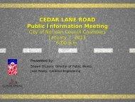 Cedar Lane Public Meeting Preseentation_KD - City of Norman