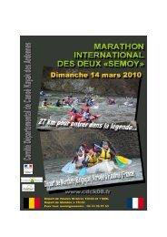 Marathon International des 2 Semoy - Comité régional de canoë ...