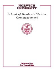 School of Graduate Studies Commencement - Norwich University