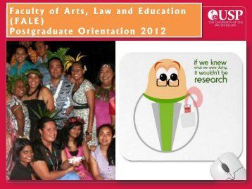 Faculty of Arts, Law and Education (FALE) Postgraduate ... - Research