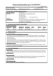 Sicherheitsdatenblatt gem. 91/155/EWG - Dental Central