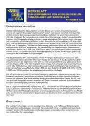 Merkblatt Mobile Dieselöltankanlagen - KVU