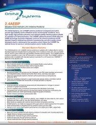 2.4AEBP-2.4m Positioner Data Sheet - Orbital Systems