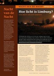 Limburgs Milieu nr. 3 2006 Nachtspecial - Milieufederatie Limburg