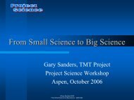 Introductory Lecture - Project Science